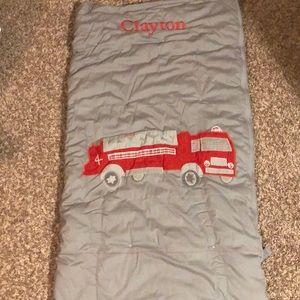 Pottery Barn Kids Sleeping bag fire engine